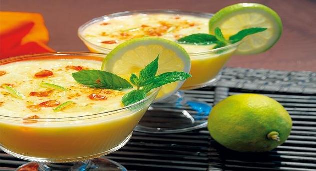 Sopa de cítricos con frutas