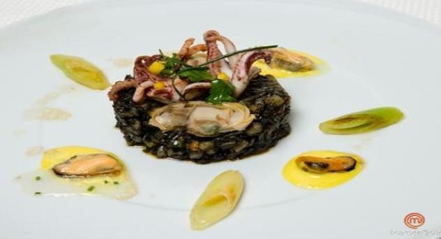 MasterChef: Arroz basmati negro con calamares y mahonesa de curry