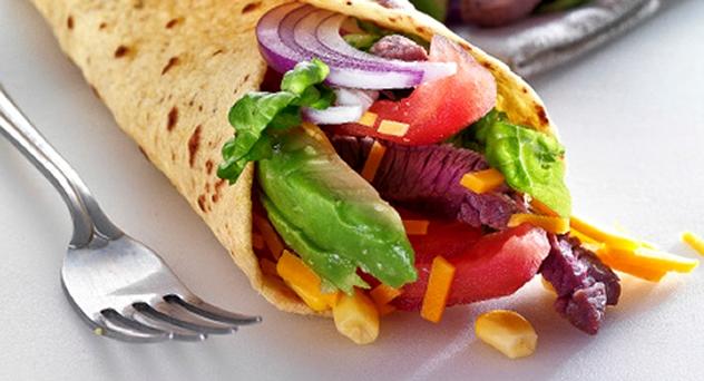 Burritos de tiras de ternera