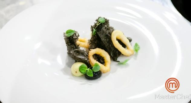 MasterChef 3: Bocadillo de calamares con pan de tinta