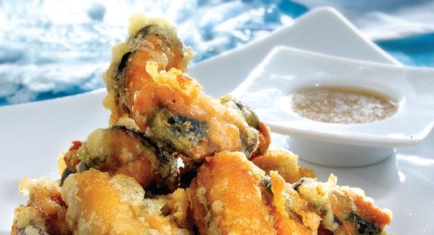 "Mejillones en ""tempura"""