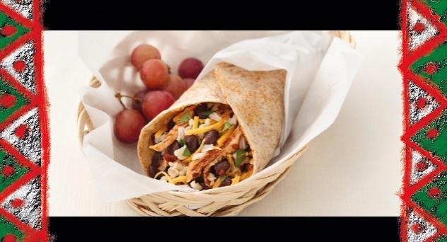 Burrito de frijoles negros y pollo