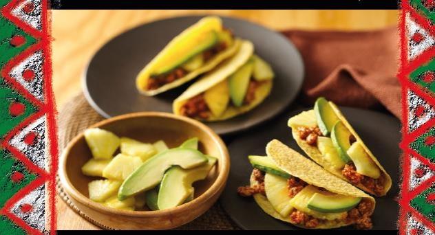Tacos de pavo tropicales