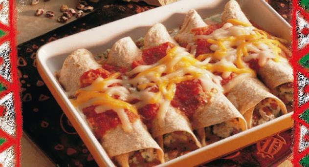 Enchilada de frijoles y queso