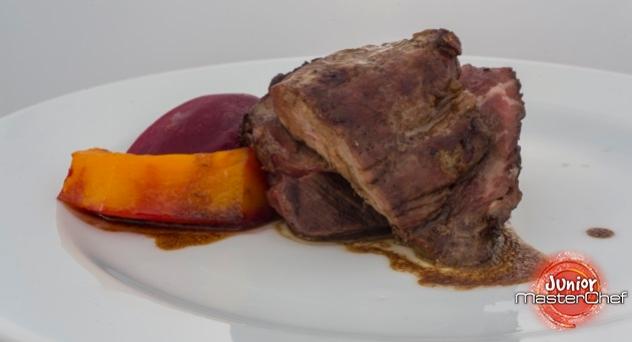 MasterChef Junior 4: Solomillo de ternera grillé a la brasa con salsa de vino