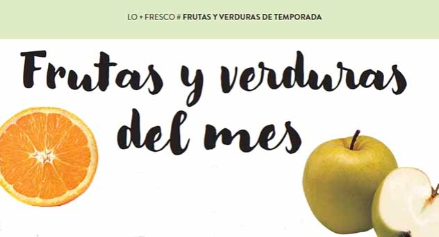 Frutas y verduras de temporada Enero 2017