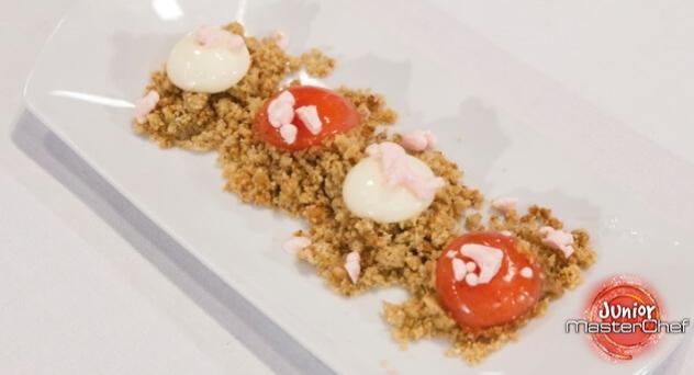 MasterChef Junior 4: Corte de helado de nata y fresa de Paula