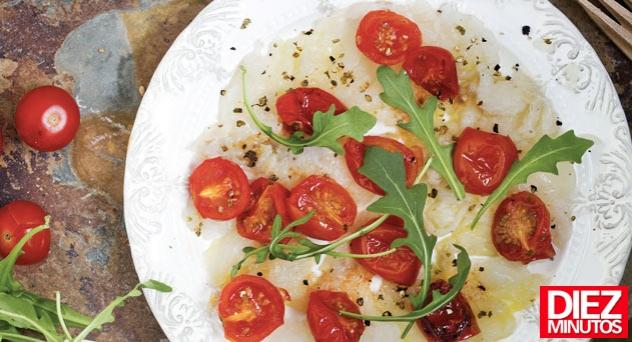 Ensalada de bacalao y tomatitos