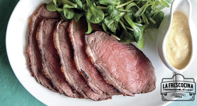 Roast Beef de tapilla de Angus con salsa de café de Paris