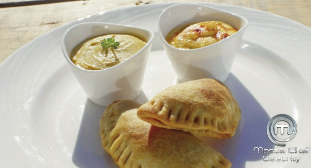 MasterChef Celebrity 2: Empanadillas de verdura con hummus y salsa de curry