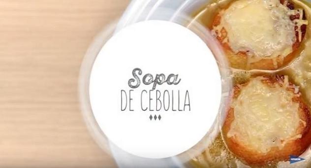 Sopa de cebolla casera