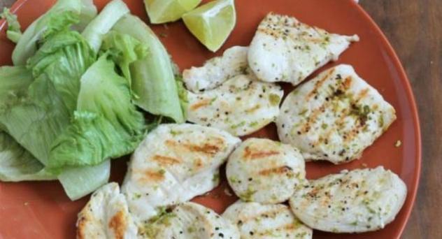 Pechugas de pollo a la lima con especias japonesas