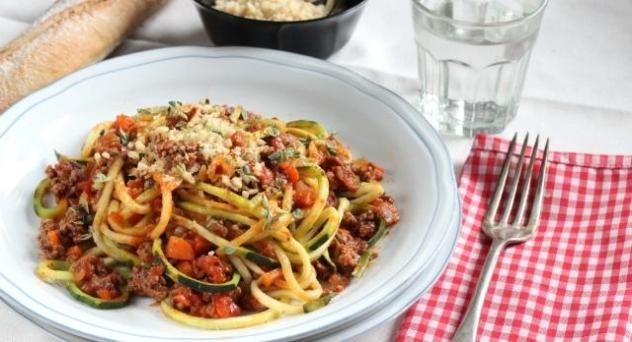 Espaguetis de calabacín para niños