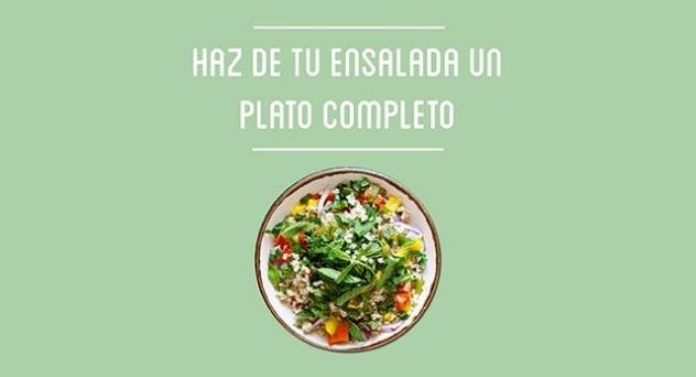 Cómo hacer de una ensalada un plato completo