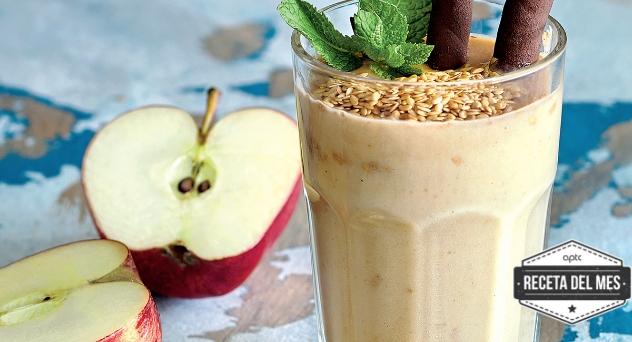 Smoothie de manzana y mantequilla de cacahuete