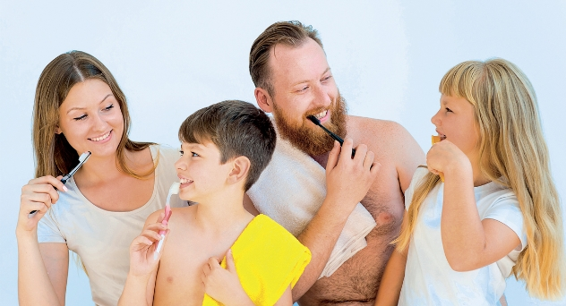 Higiene bucal, bocas sanas y sonrientes
