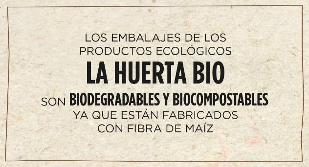 El packaging sostenible de La Huerta BIO