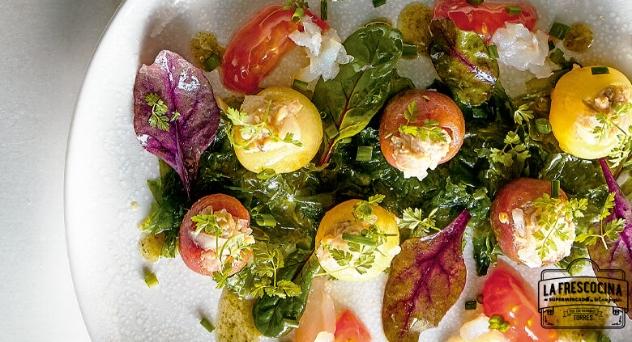 Tomates rellenos de ostra