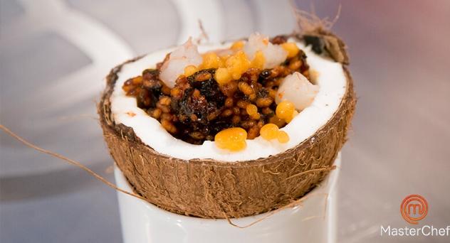 MasterChef 6: Arroz con agua de coco, alga wakame y langostino