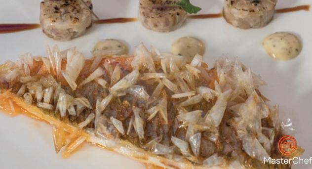MasterChef 6: Salmonete con rabitos de cerdo y mayonesa de encurtidos