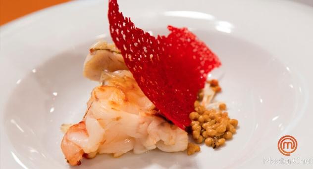 Masterchef 6: Caldereta de langosta y salmonete con sal de escamas  y caviar de coral