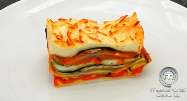 MasterChef Celebrity 3: Lasagna de verduras gratinada