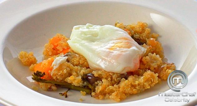 MasterChef Celebrity 3: Wok de quinoa y verduras con huevo poché