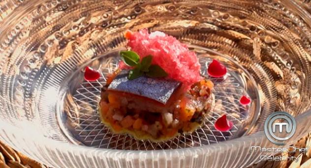 MasterChef Celebrity 3: Emulsión de tomate, sardina arenque y remolacha