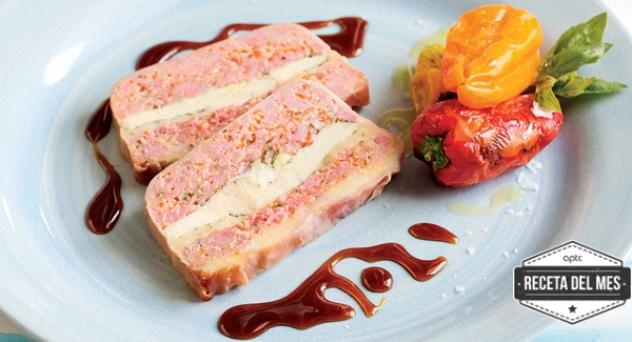 Pastel de carne de pollo y queso sin lactosa