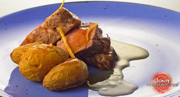 MasterChef Junior 6: Solomillo de cerdo a la naranja con patatitas asadas al romero