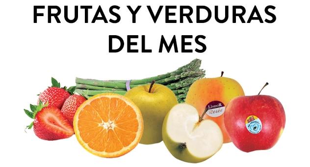 Frutas y verduras del mes de Marzo 2019