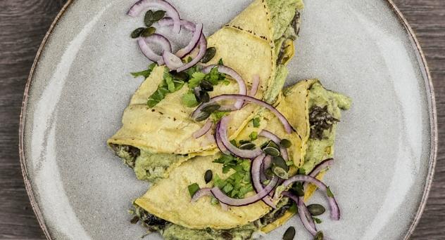 Enchiladas de carrilleras ibéricas