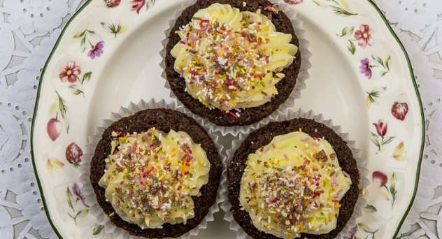 'Cupcakes' de chocolate