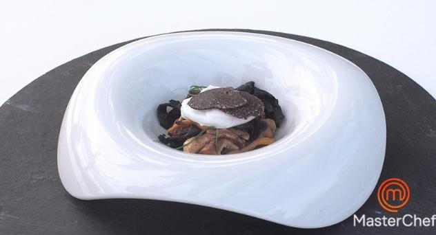 MasterChef 7: Huevos poché con setas de temporada y trufa