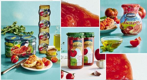 Tomates naturales en conserva
