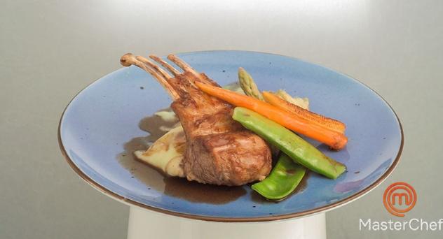 Masterchef 7: Carré de cordero lechal con verduras