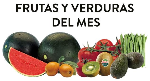 Frutas y verduras del mes de Mayo 2019