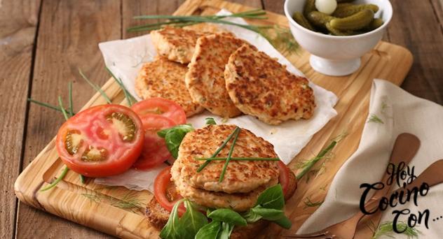 Burger de salmón por Delicious Martha