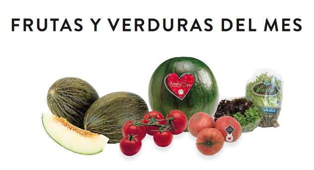 Frutas y verduras del mes de Julio 2019