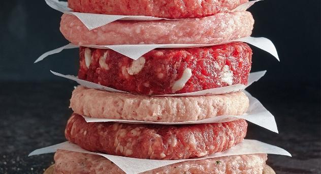 Hamburguesa y carne picada, superior