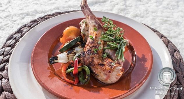 Receta MasterChef Celebrity 4: Conejo asado con verduras a la brasa