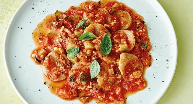Corzetti en salsa de la abuela anice
