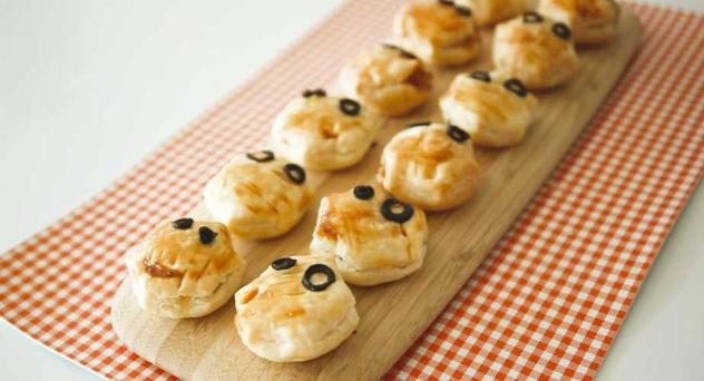 Hojaldres de momia para Halloween
