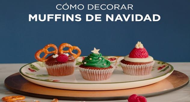 Cómo decorar muffins de Navidad