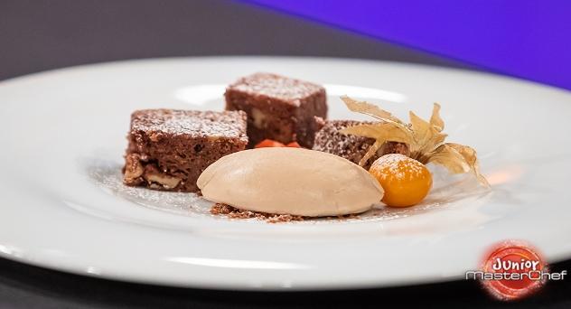 Masterchef Junior 7: Brownie de chocolate con helado de avellana