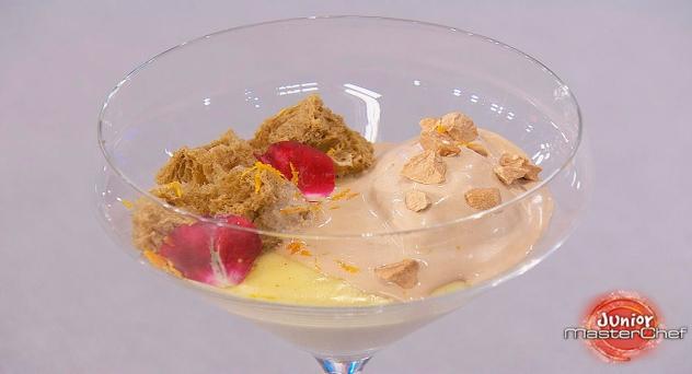 Masterchef Junior 7: Crema ligera de vainilla, bizcocho de regaliz y helado de avellana