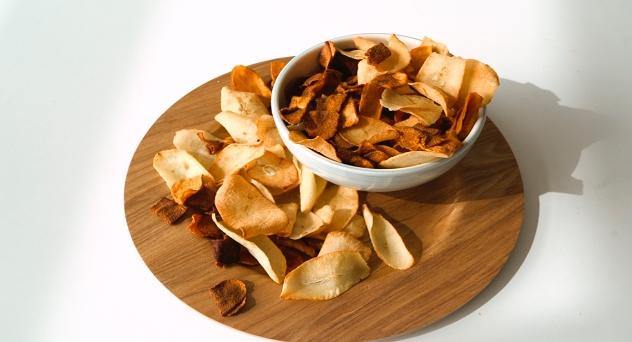 Chips de verduras para niños