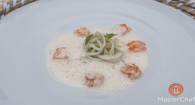 Masterchef 8: Calamar y cigala con salsa americana de café y curry