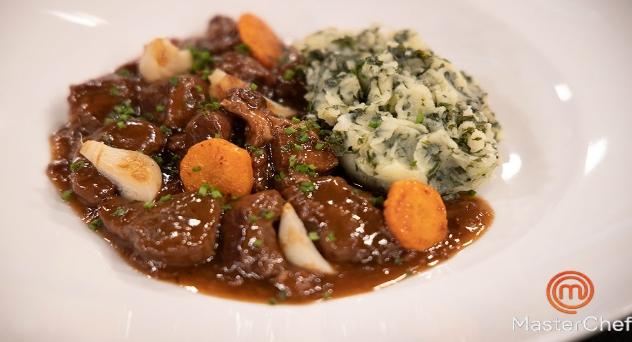 Masterchef 8: Estofado irlandés con puré de patata y kale