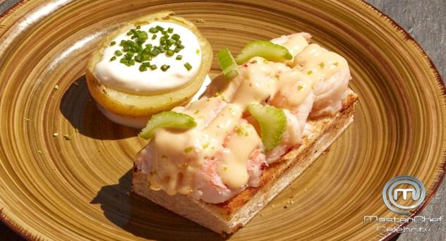 MasterChef Celebrity 5: Lobster roll con patatas asadas con crema agria